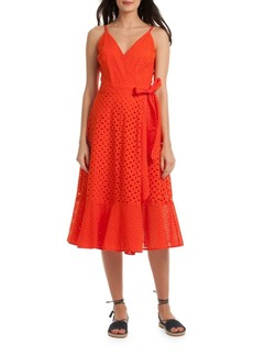 Trina Turk Eyelet Cotton Wrap Dress