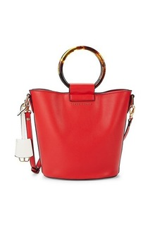 Trina Turk Faux Leather Ring Bucket Bag