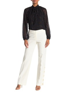 Trina Turk Fete 2 Solid Button Accent Pants