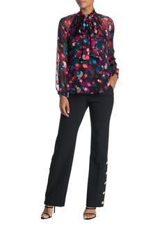Trina Turk Fete Solid Button Accent Pants
