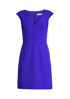 Trina Turk Fiery V-Neck Pleated Dress