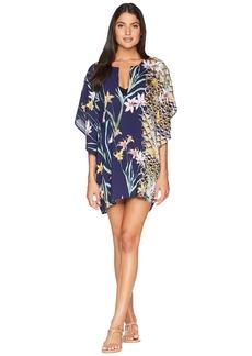Trina Turk Fiji Floral Mix Caftan Cover-Up