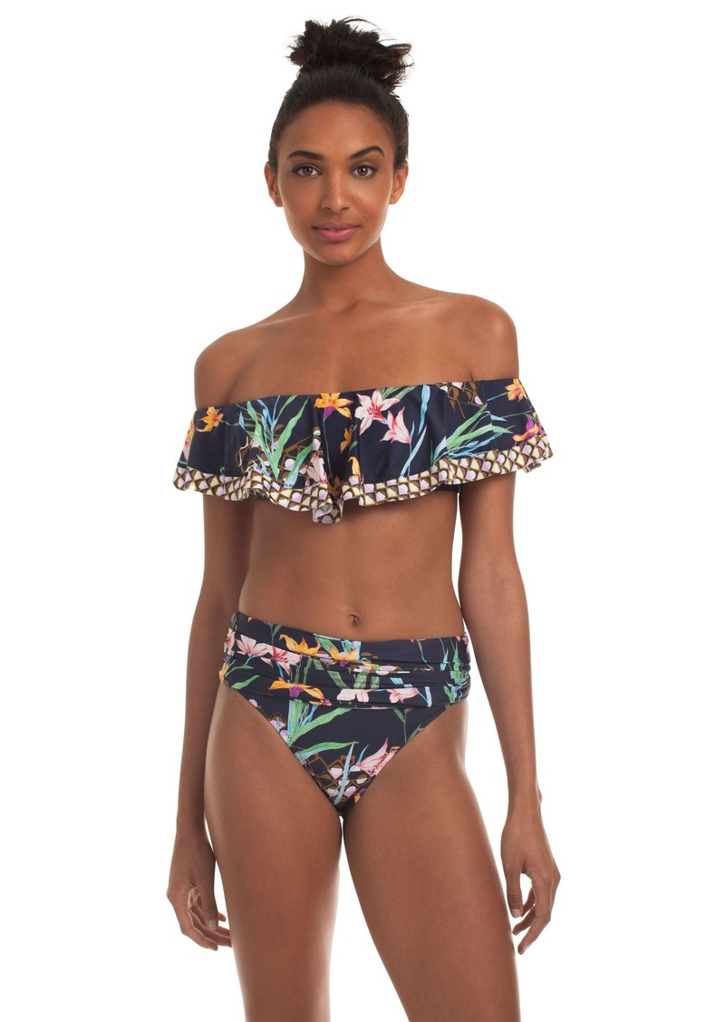 Trina Turk FIJI FLORAL MIX OFF THE SHOULDER BANDEAU