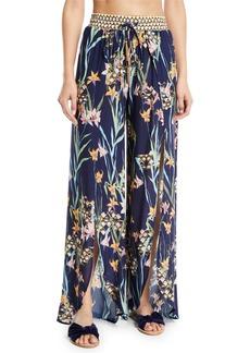 Trina Turk Fiji Floral Split-Leg Beach Pants