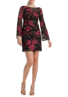 Trina Turk Floral Embroidery Sheath Dress