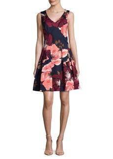 Trina Turk Floral Fit-&-Flare Dress