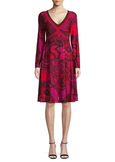 Trina Turk Floral Knee-Length Dress