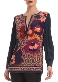 Trina Turk Floral Lotta Silk Top