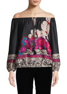 Trina Turk Floral Off-The-Shoulder Top