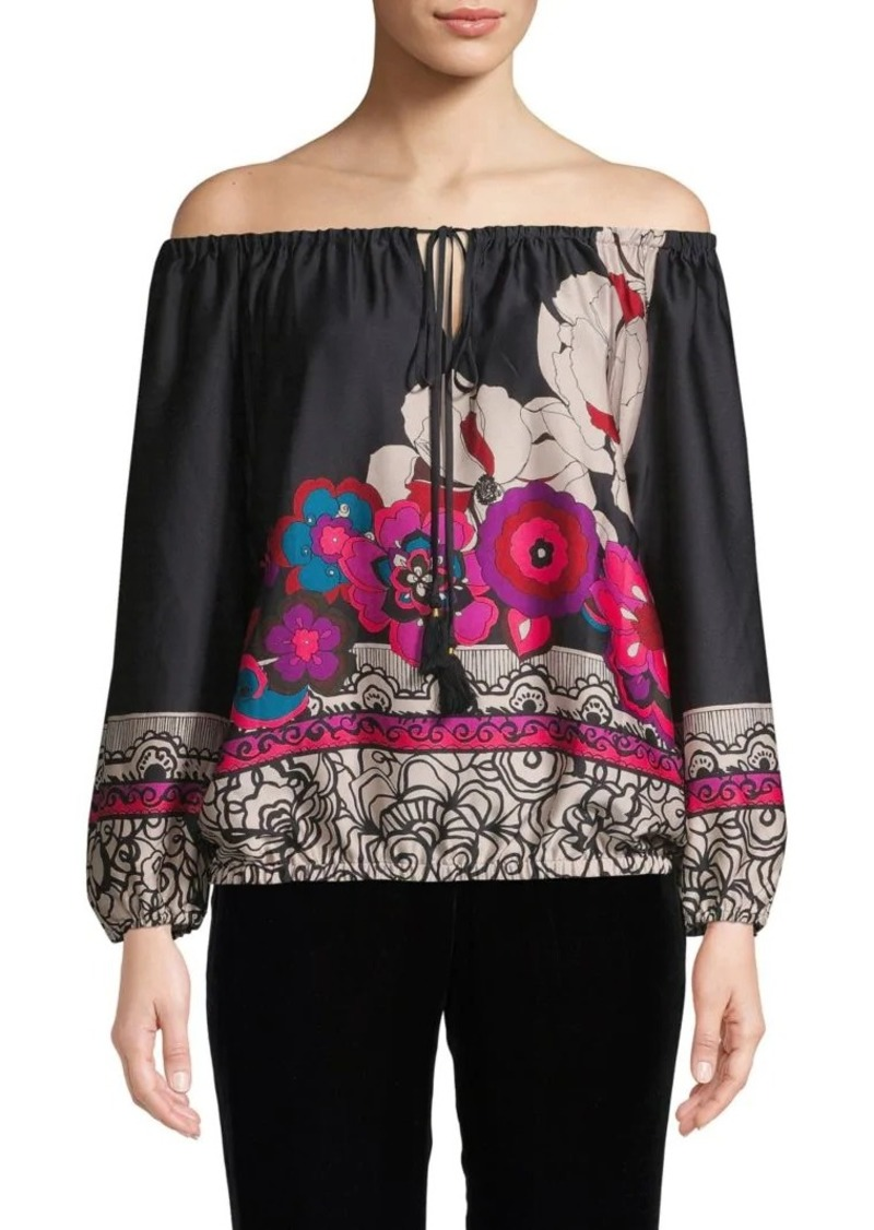Trina Turk Floral Off-The-Shoulder Top