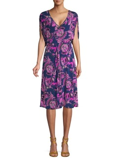 Trina Turk Floral-Print Knee-Length Dress