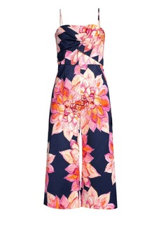 Trina Turk Floral Scenery Cropped Jumpsuit