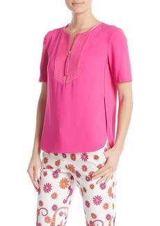 Trina Turk Florene Short Sleeve Blouse