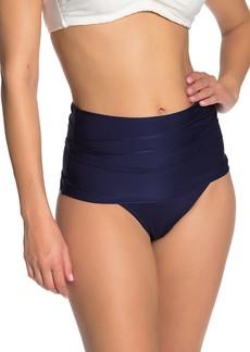 Trina Turk Folded Over High Waist Bikini Bottoms