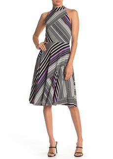 Trina Turk Gaiety Stripe Printed Sleeveless Dress