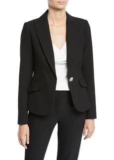Trina Turk Gala Double Luxe Crystal-Button Jacket