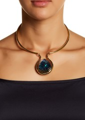 Trina Turk Genuine Semi-Precious Stone Pendant Choker