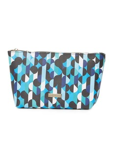 Trina Turk Geometric Print Large Bottom Cosmetic Bag