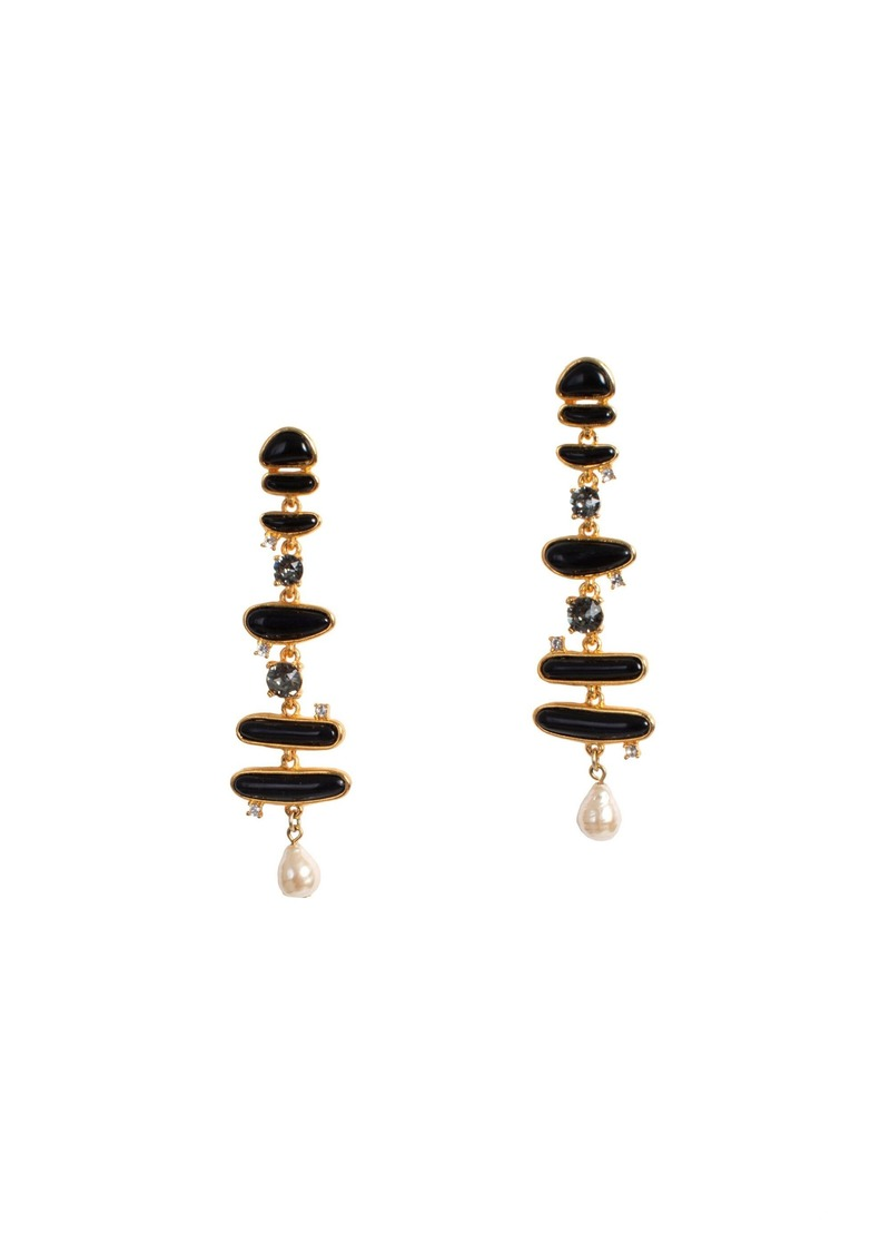 Trina Turk GOLD DROP POST EARRING