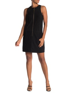 Trina Turk Gower Goat Leather Sleeveless Dress