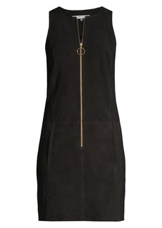 Trina Turk Gower Suede Sheath Dress