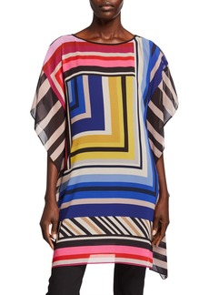 Trina Turk Grape Vine Striped Tunic Dress