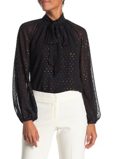 Trina Turk Greyhound Textured Blouse