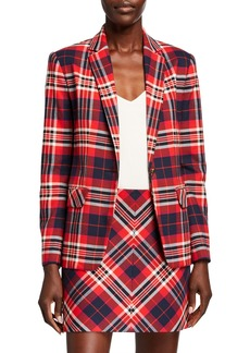 Trina Turk Habanero 2 Plaid One-Button Jacket