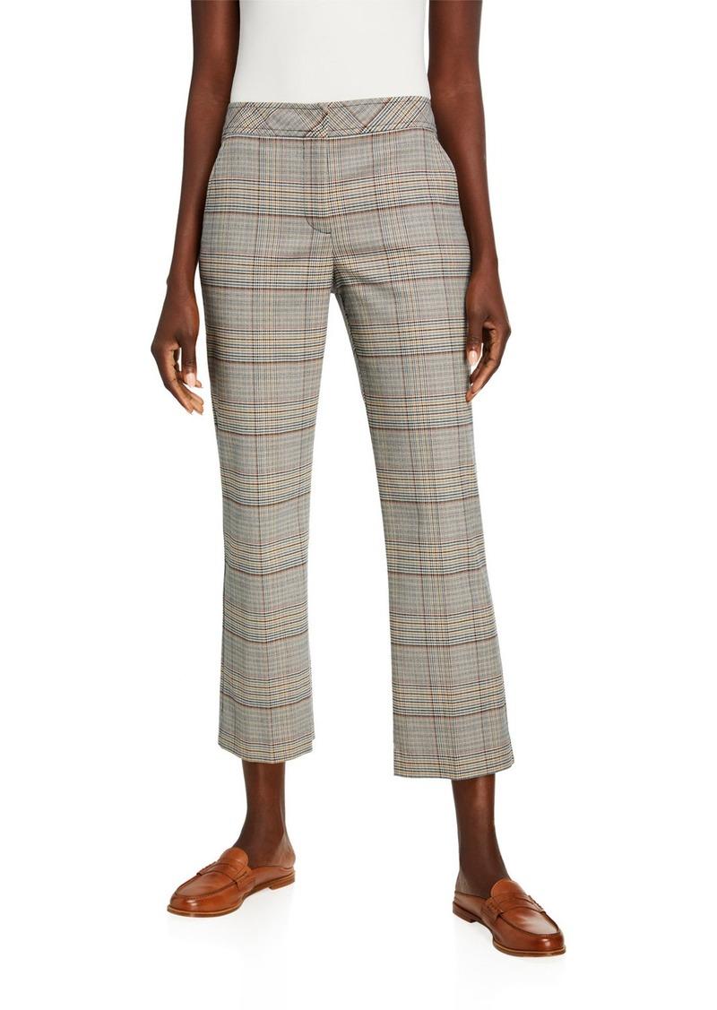 Trina Turk Highland Park Button-Back Pants in Plaid