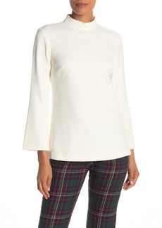 Trina Turk Hostess Back Keyhole Mock Neck Top