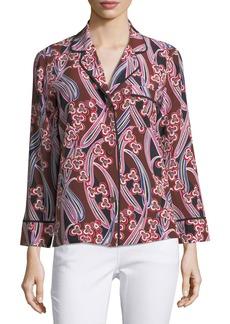 Trina Turk Ira Button-Front Silk Blouse