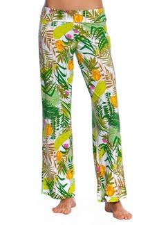 Trina Turk It's Bananas Roll-Top Coverup Pants