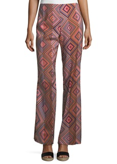 Jacoba Geo-Print Boot-Cut Pants