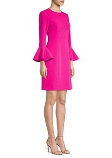 Trina Turk Jazzy Panache Bell-Sleeve Sheath Dress