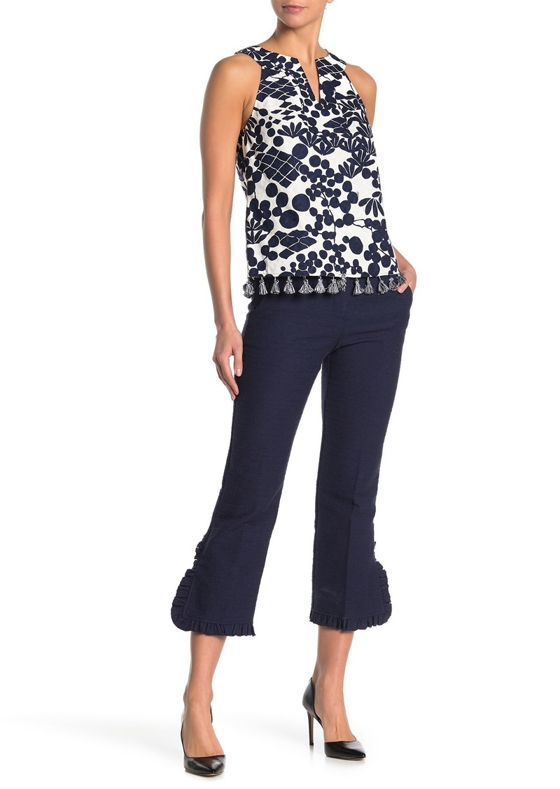 Trina Turk Jet Stream Ruffle Pants (Regular & Plus Size)