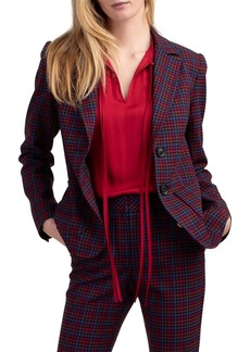 Trina Turk Jezabel Plaid Blazer Jacket