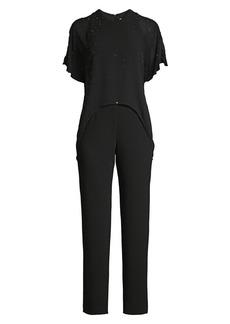 Trina Turk Kaizen Embellished Popover Jumpsuit