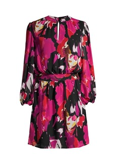 Trina Turk Kaneshon Printed Long-Sleeve Dress