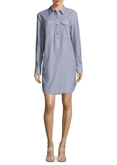 Trina Turk Kenna Dot-Print Cotton Shirt Dress