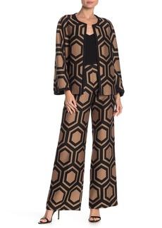 Trina Turk Kern Geo Print Wide Leg Pants