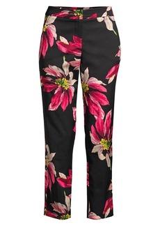 Trina Turk Larkin Floral Skinny Cropped Pants