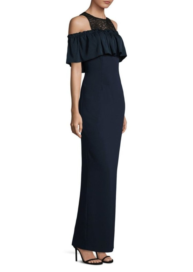Trina Turk Lauren Cold-Shoulder Ruffle Dress