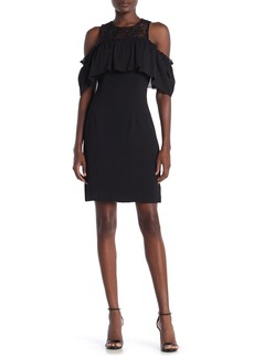 Trina Turk Lauren Cold Shoullder Lace Knit Dress