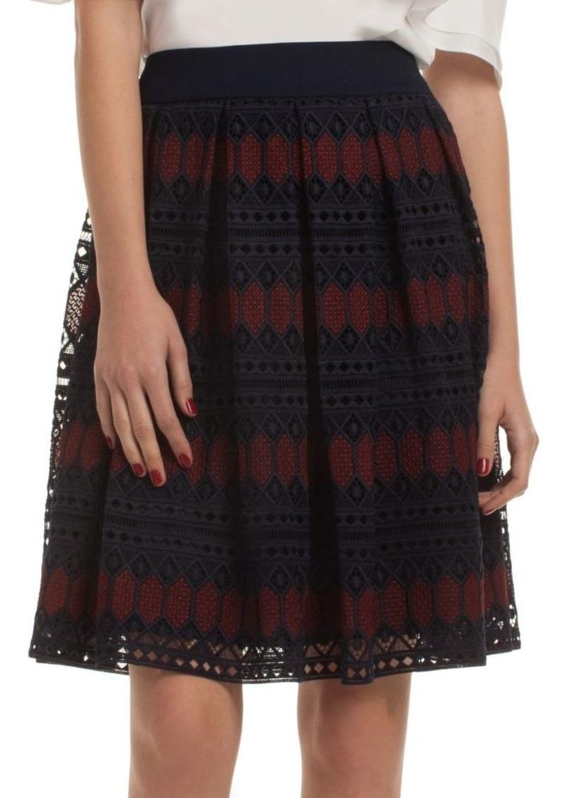 Trina Turk Leland Mesh Knee-Length Skirt