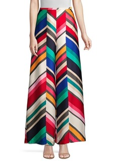 Trina Turk Long Weekend Satin Striped Palazzo Pants