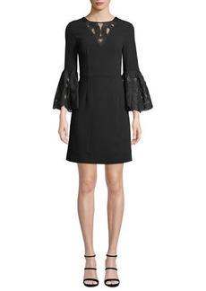 Trina Turk Luciana Lace Bell-Sleeve Dress