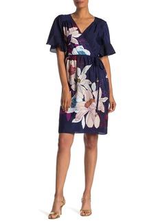 Trina Turk Lucy Short Sleeve Floral Print Dress