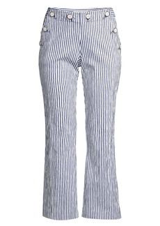 Trina Turk Lyric Theater Striped Cropped Pants