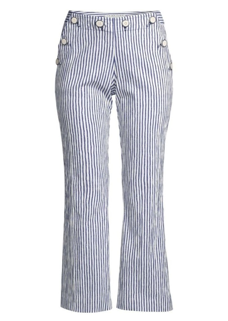 Trina Turk Lyric Theater Striped Cropped Pants
