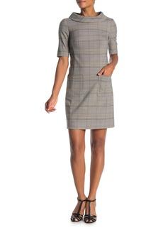 Trina Turk Maleko Elbow Sleeve Plaid Dress
